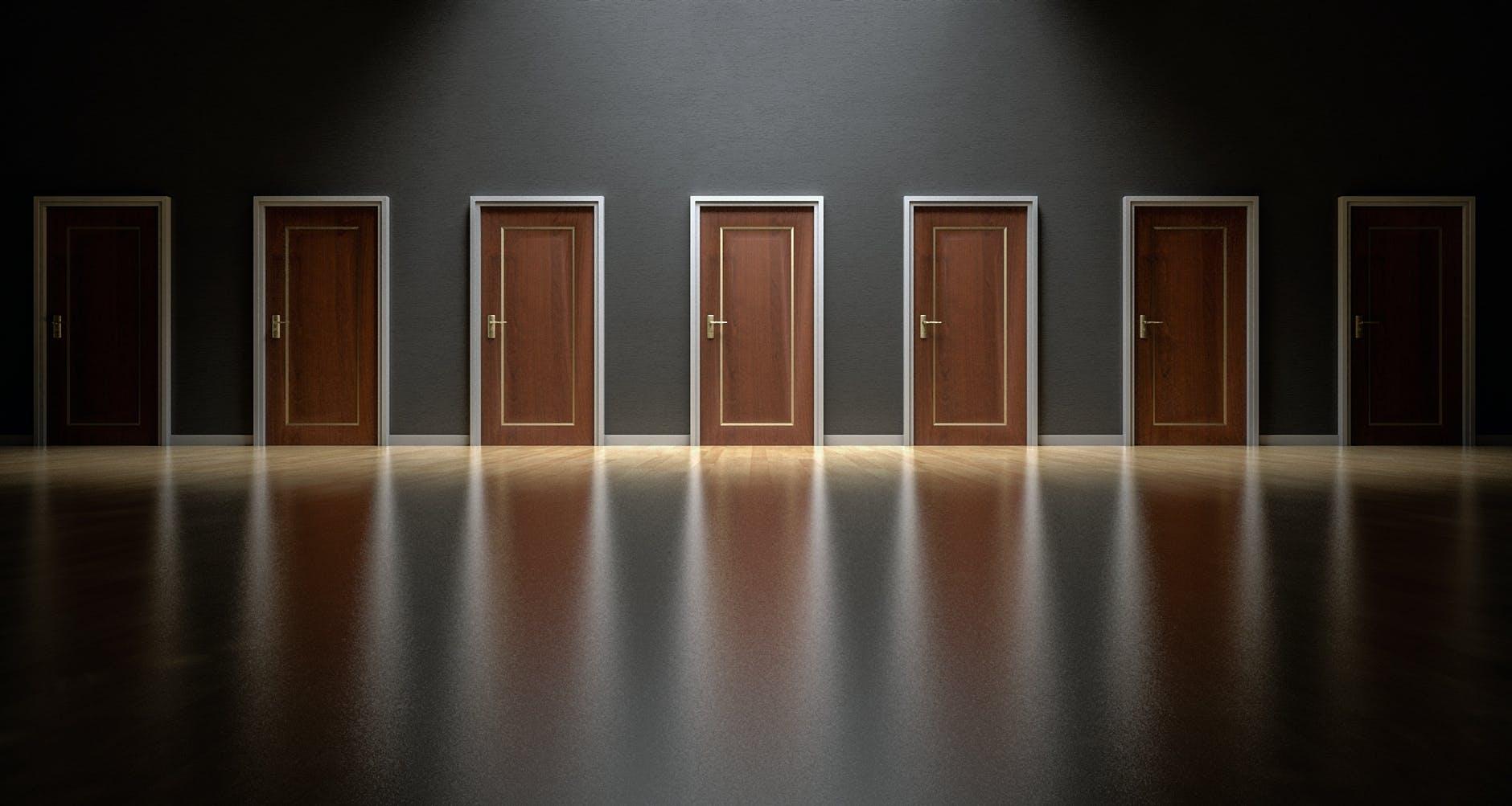 choices decision doors doorway